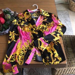 Large cache silk shirt
